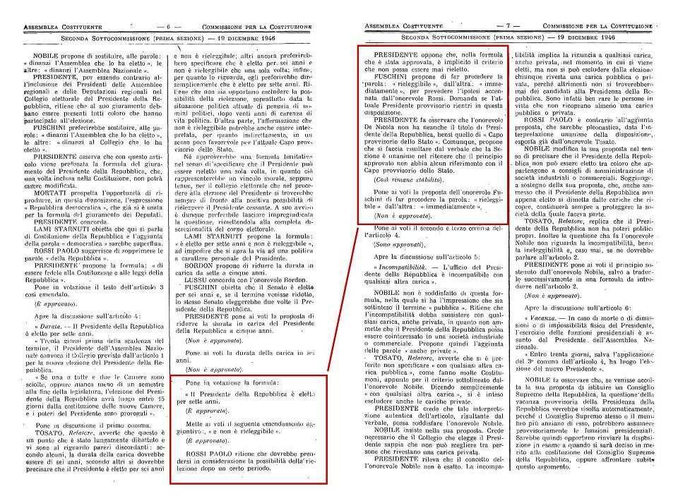 costituzione - Il Presidente della Repubblica Napolitano non poteva essere rieletto: violata la Costituzione?