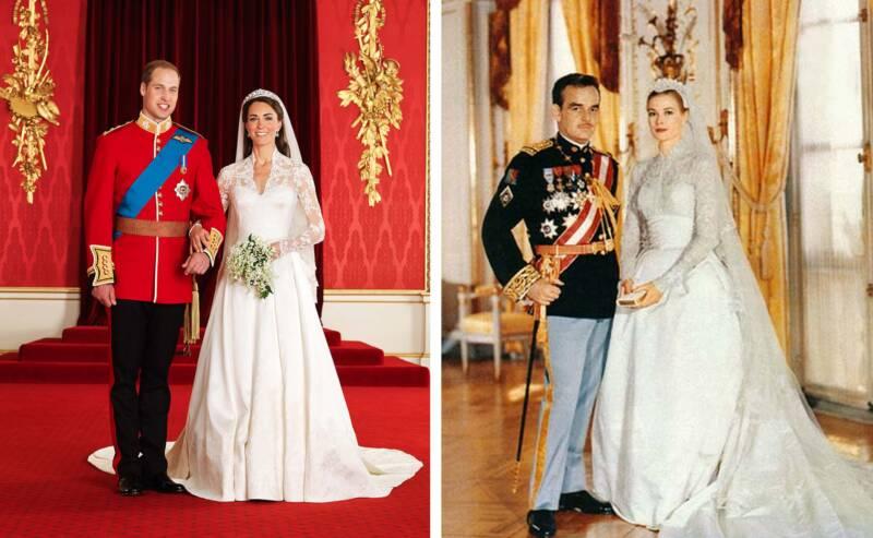 Matrimonio grace kelly kate middleton 800x493 - Abito da sposa: un sogno antico ancora attuale dalle principesse alle dive