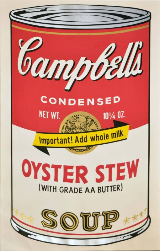 andy warhol Campbells Soup 510x800 - Andy Warhol: trovate 12 opere inedite su floppy disc del maestro della pop art