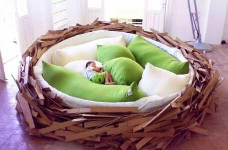 Letti più strani letto nido