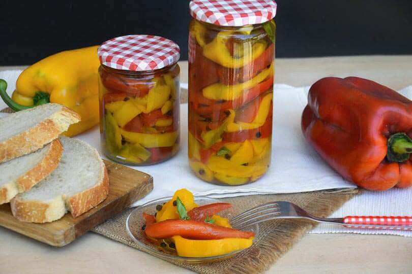 Peperoni arrosto sott'olio la ricetta