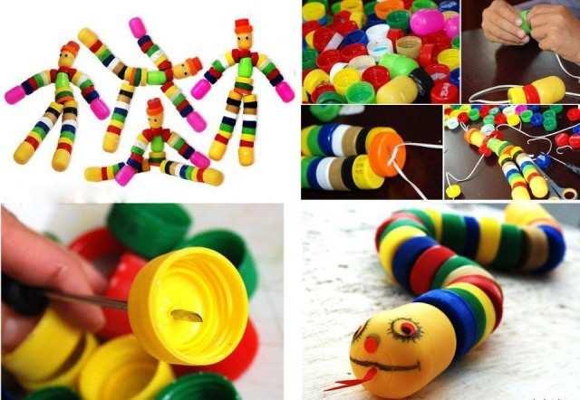 giocattolo - Come riciclare i tappi di plastica dai giocattoli alle collane