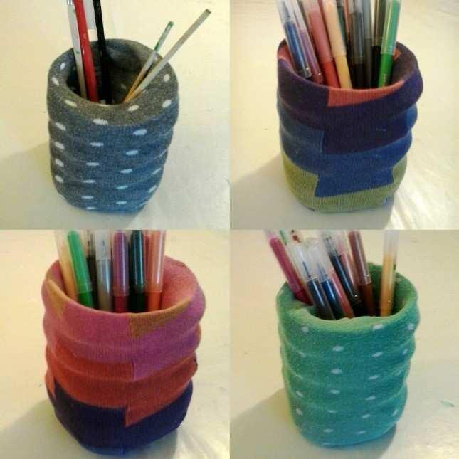 socks pencilcase2 - Come riciclare le bottiglie di plastica e altri oggetti che buttiamo (Video)