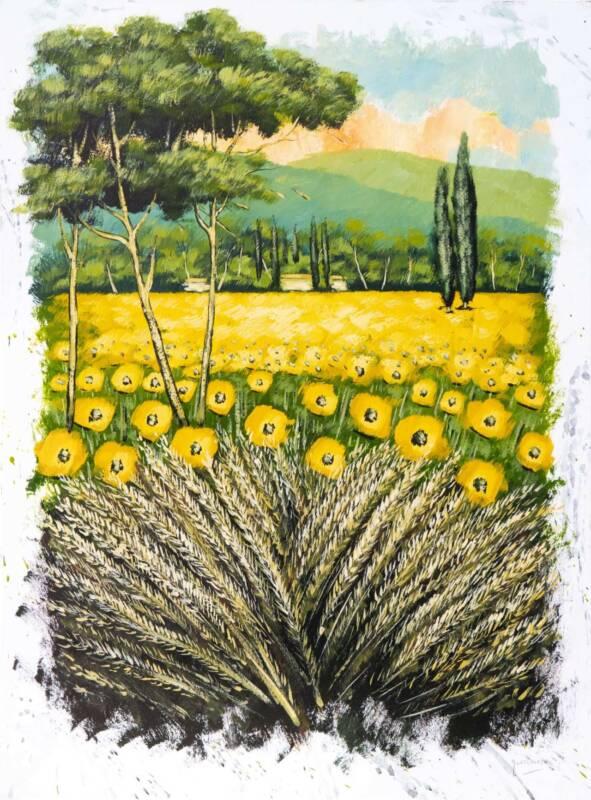 Girasoli Domenico Monteforte 591x800 - Il mondo della pittura vista con gli occhi di Domenico Monteforte
