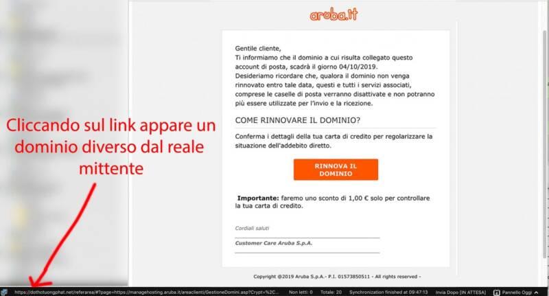 email truffa aruba 800x431 - Email con ricatto e Phishing: Attenzione è una truffa - Lista aggiornata