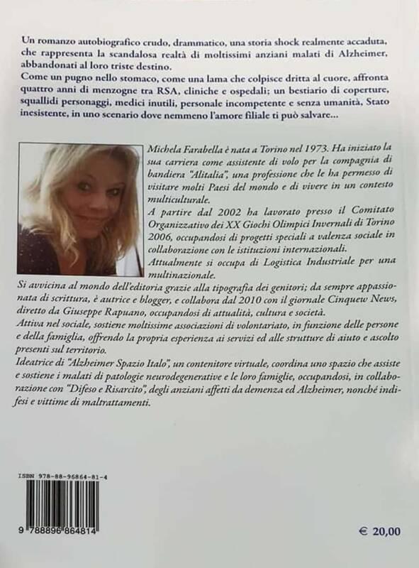 """Michela Farabella libro italo con te partiro retro 591x800 - """"Italo con te partirò"""": l'Alzheimer che non è mai stato raccontato! il Libro"""