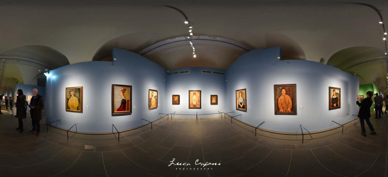 La mostra di Modigliani nel Museo della Città di Livorno con la visita a 360° su google Maps