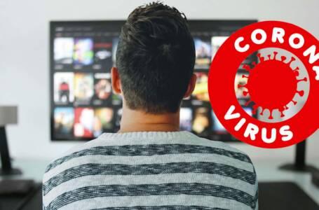 coronavirus stare in casa alla televisione