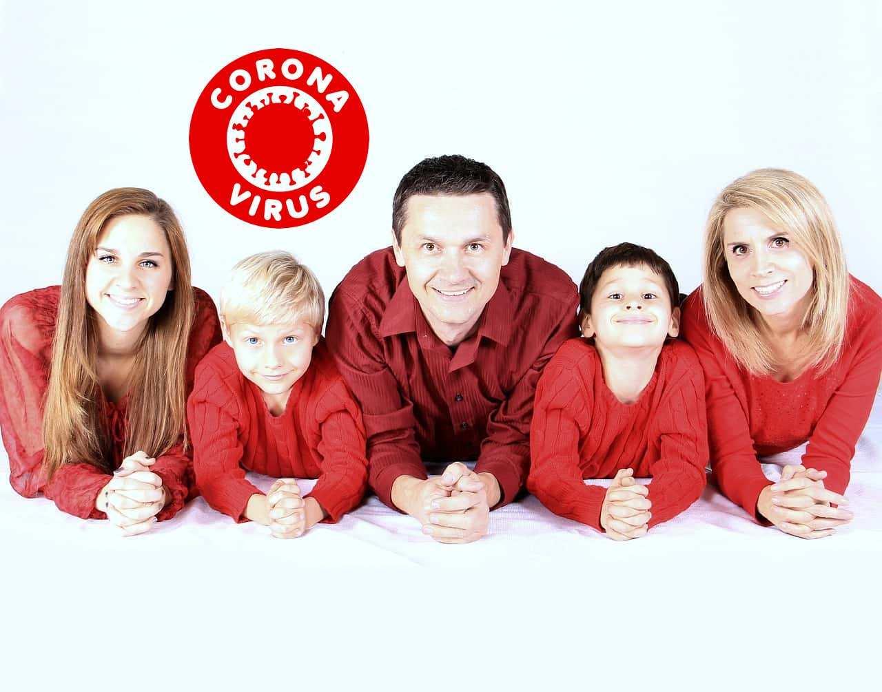 Coronavirus covid-19 quarantena in famiglia