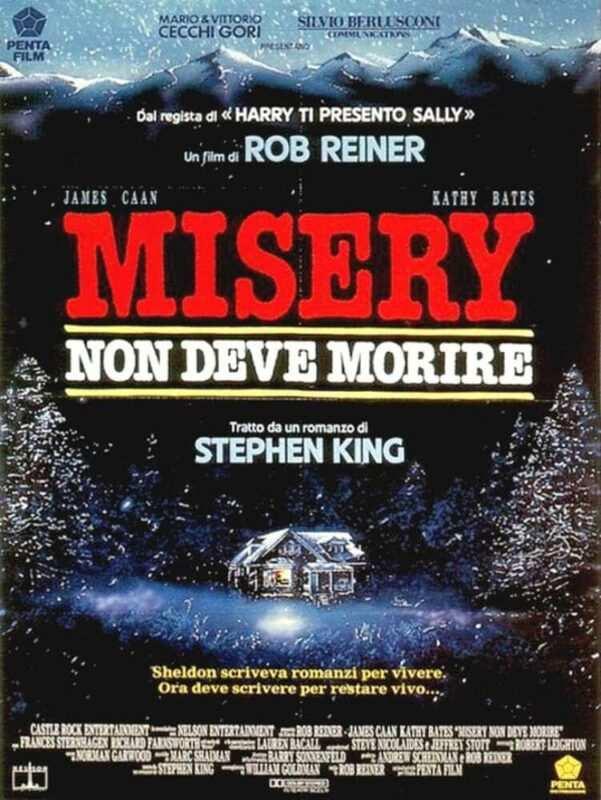 misery non deve morire locandina 601x800 - Misery di Stephen King, l'incubo di ogni scrittore (recensione)