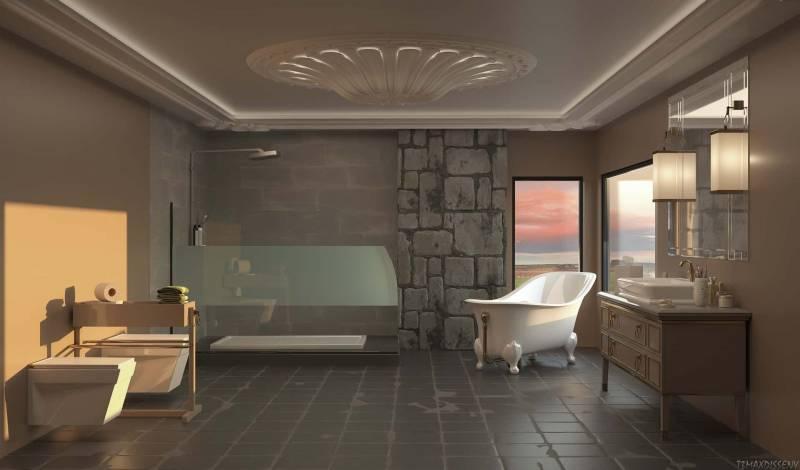 bagno pietra naturale 800x470 - Un tocco di colore al bagno con lavabi e sanitari