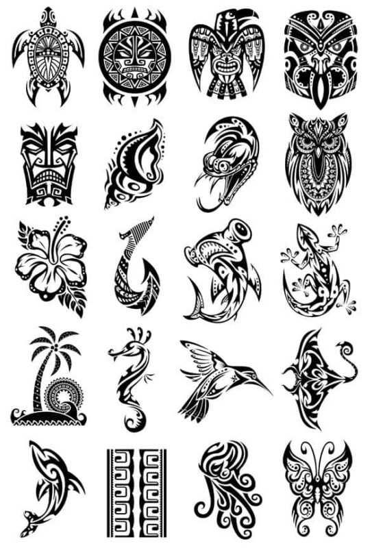 tatoo maori set 543x800 - Il significato dei tatuaggi maori e la loro cultura, i migliori disegni per prenderne spunto