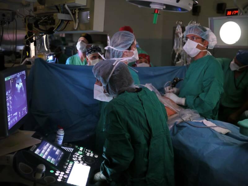 sala operatoria operazione pancreas 800x600 - San Raffaele di Milano: prima volta al mondo ricostruito Pancreas