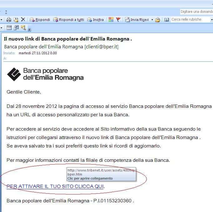 bper truffa email - Email con ricatto e Phishing: Attenzione è una truffa