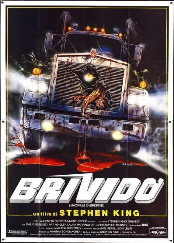 Maximum overdrive brivido stephen king poster 572x800 - Il film flop tratti dai romanzi di Stephen King